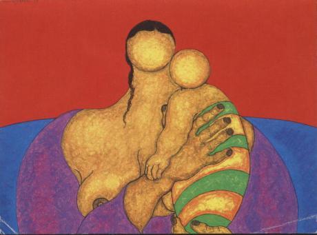 Nº 16 - Madre con Guagua de Mamani Mamani