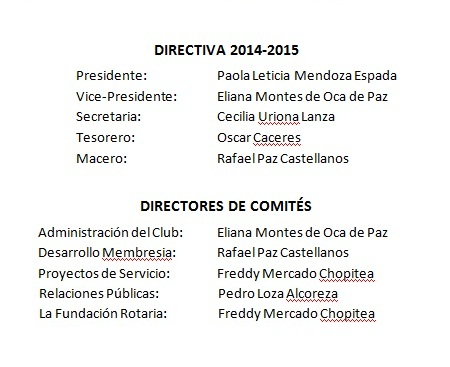 Directiva y Comites