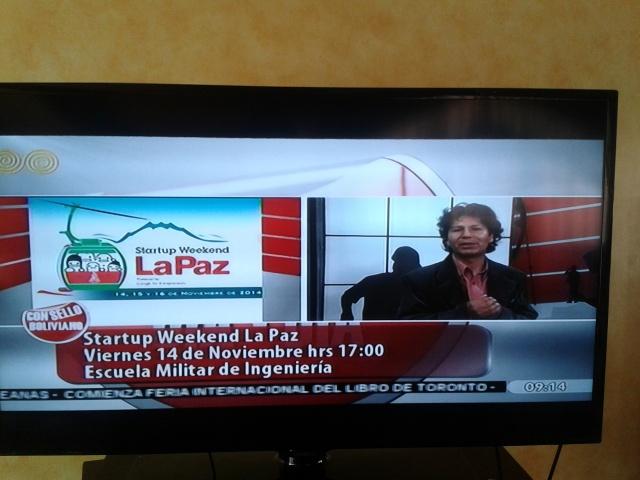 Difusion del evento en Bolivia Tv en el Programa Con Sello Boliviano