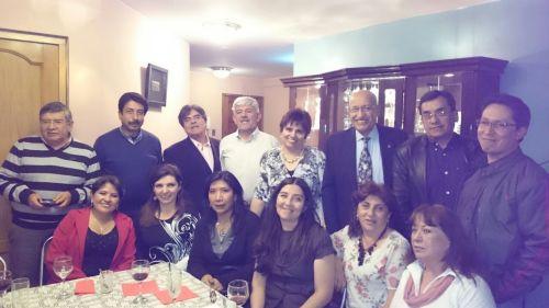 De pie: H.Burgoa, R.Almendras, J.Orozco, R.Paz, M.Eugenia, W.Tapia, P.Loza, Boris